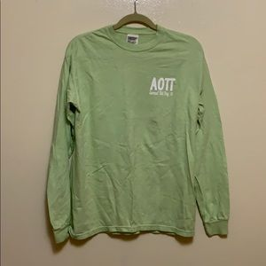 Alpha Omicron Pi Comfort Colors Long Sleeve Tee